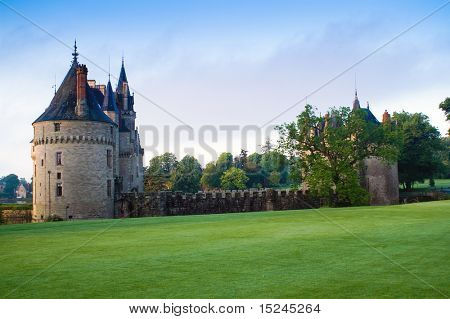 ancient castle, blue sky, Europe
