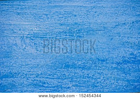 Textural image: macro view of painted sky-blue wooden surface