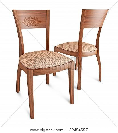 two business chairs, for work and relax, isolated