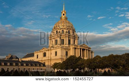 The cathedral of Saint Louis des invalides Paris France.