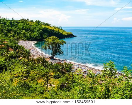 The Amed -- a small village on the northeast of Bali.