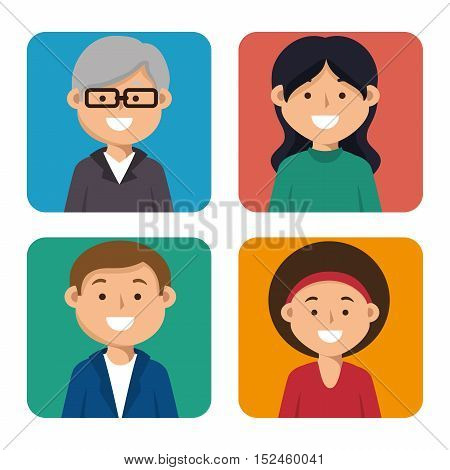 set person education online icon graphic vector illustration eps 10
