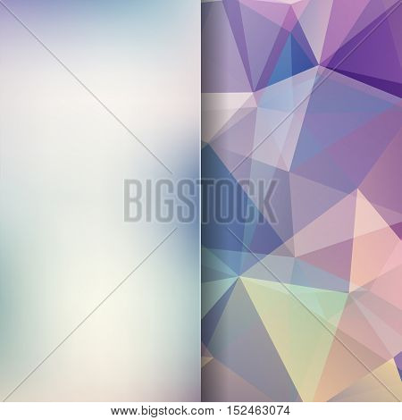 Background Of Colorful Geometric Shapes. Blur Background With Glass. Colorful Mosaic Pattern. Vector