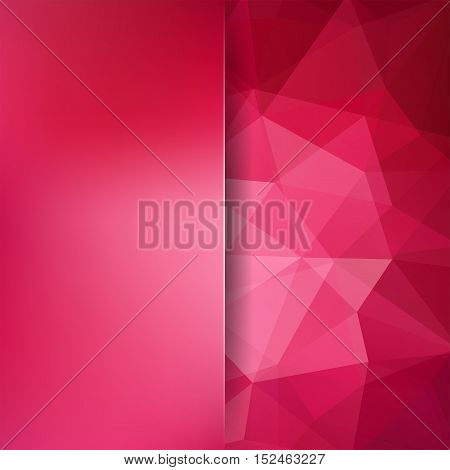 Abstract Polygonal Vector Background. Red Geometric Vector Illustration. Creative Design Template. A