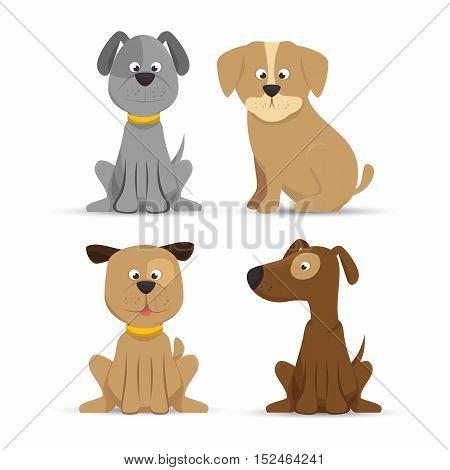 puppy dog cute design icon vector illustration eps 10