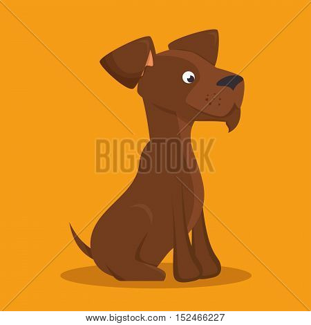 brown dog lovely icon graphic vector illustration eps 10