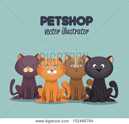 petshop care and grooming mascot graphic vector illustration eps 10