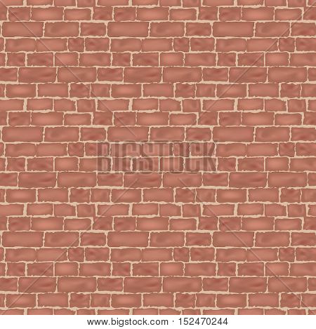 Brick wall texture. Vintage brickwall background. Architectural shabby surface pattern