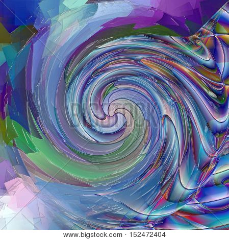 Abstract coloring background of the horizon gradient with visual spherize,twirl,plastic wrap,pagecurl and lighting effects