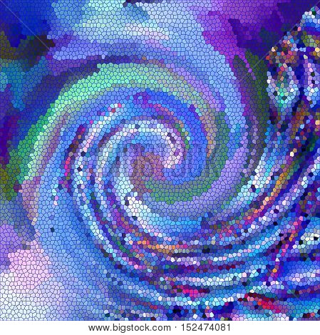 Abstract coloring background of the horizon gradient with visual spherize,twirl,pagecurl,lighting and stained glass effects