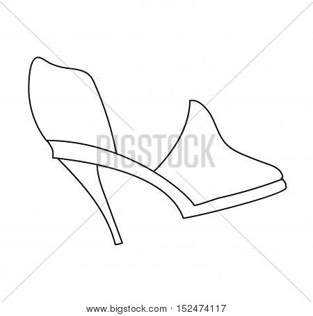 Glamour shoes stylish and original design fashionable accessory with high heels