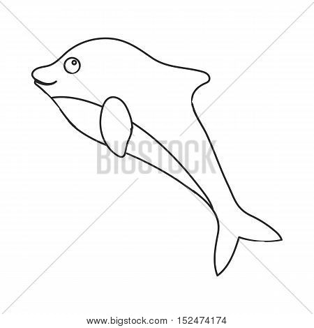Dolphin icon outline. Singe animal icon from the big animals outline.