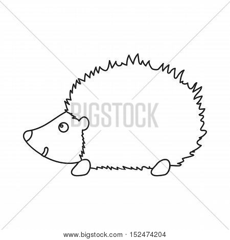 Hedgehog icon outline. Singe animal icon from the big animals outline.