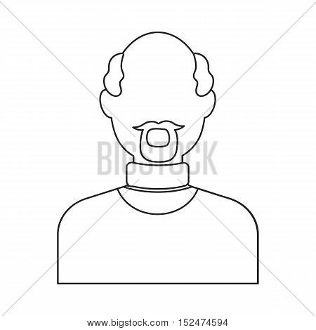 Man with beard icon outline. Single avatar, people icon from the big avatar outline.