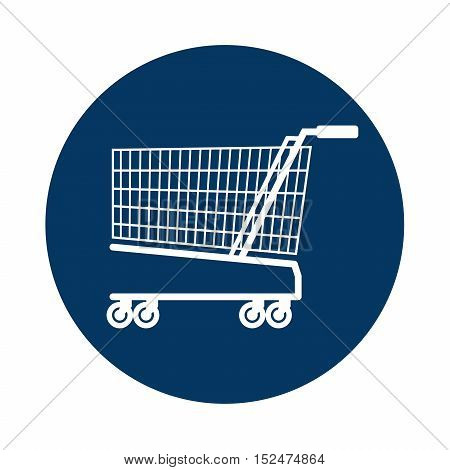 cart shopping blue background circle icon vector illustration eps 10
