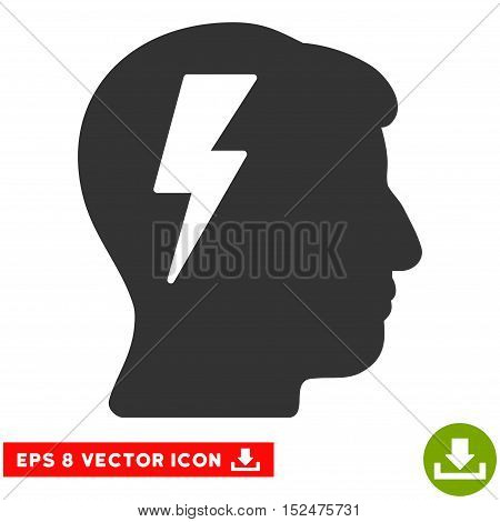 Brainstorming EPS vector pictogram. Illustration style is flat iconic gray symbol on white background.