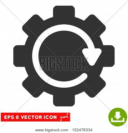 Gear Rotation Direction EPS vector icon. Illustration style is flat iconic gray symbol on white background.