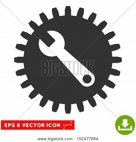 Service Tools EPS vector pictogram. Illustration style is flat iconic gray symbol on white background.