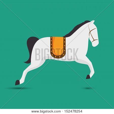 horse entertainment festival funfair vector illustration eps 10