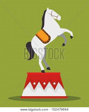 acrobat horse show circus carnival vector illustration eps 10