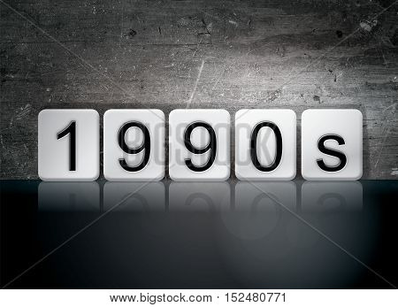 1990S Tiled Letters Concept And Theme