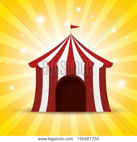 circus tent red and white shine background vector illustration eps10