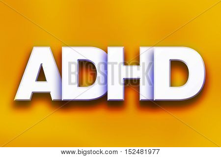 Adhd Concept Colorful Word Art