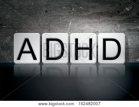 Adhd Tiled Letters Concept And Theme