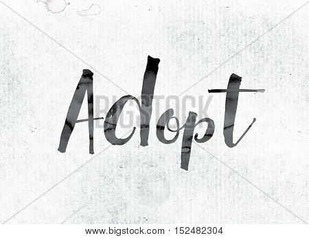 Adopt Concept Painted In Ink