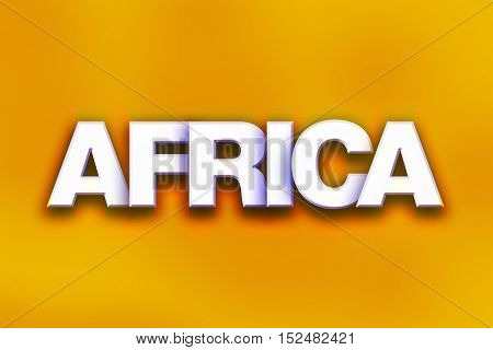 Africa Concept Colorful Word Art