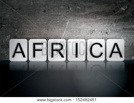 Africa Tiled Letters Concept And Theme