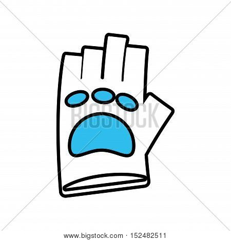 gloves gym equipment isolated icon vector illustration design