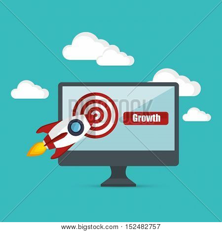 growth business concept star up target vector illustration eps 10