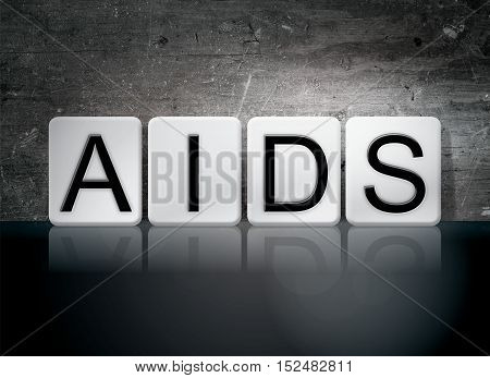 Aids Tiled Letters Concept And Theme
