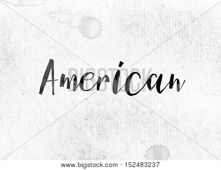American Concept Painted In Ink