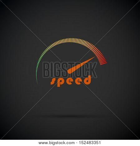 Speedometer icon. Logo company. Internet speed indicator. Vector illustration eps 10