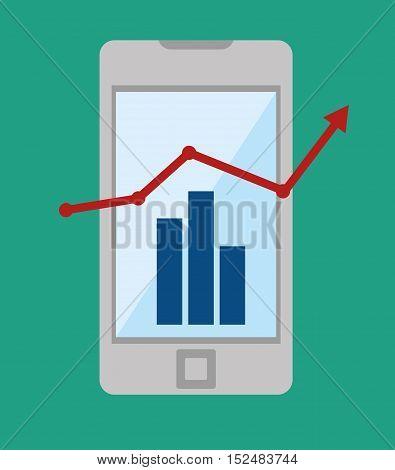 technology business growth statistics design icon vector illustration eps 10
