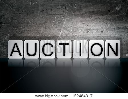 Auction Tiled Letters Concept And Theme