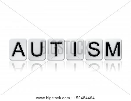 Autism Isolated Tiled Letters Concept And Theme