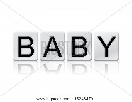 Baby Isolated Tiled Letters Concept And Theme