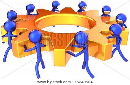Business teamwork dream team abstract