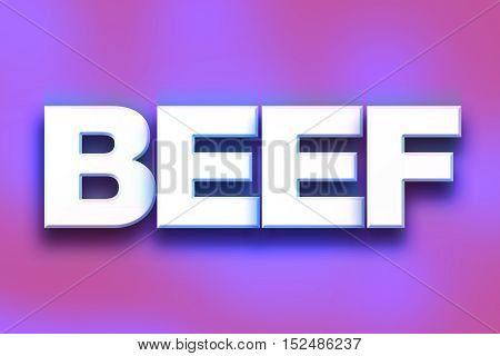 Beef Concept Colorful Word Art