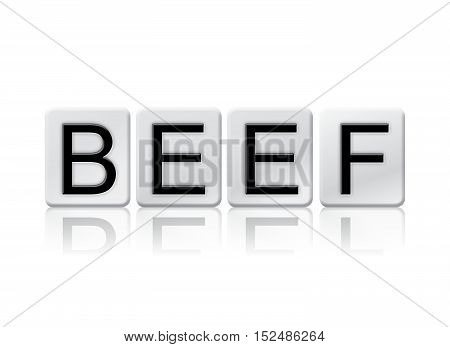 Beef Isolated Tiled Letters Concept And Theme