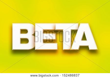 Beta Concept Colorful Word Art