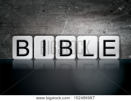 Bible Tiled Letters Concept And Theme