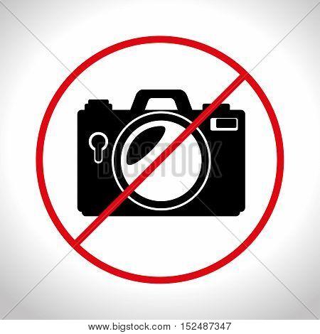no photo camera prohibited design, vector illustration graphic