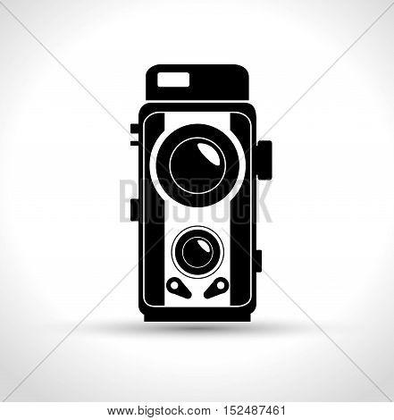 vintage photography camera design, vector illustration graphic