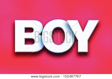 Boy Concept Colorful Word Art