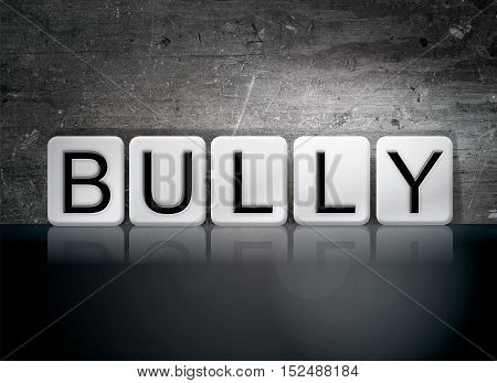 Bully Tiled Letters Concept And Theme