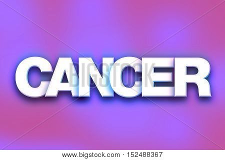 Cancer Concept Colorful Word Art